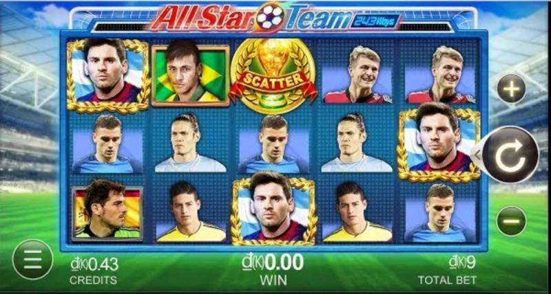 Trò chơi All-Stars Team là một trong những game slot đổi thưởng uy tín 2021 tại nhà cái V7