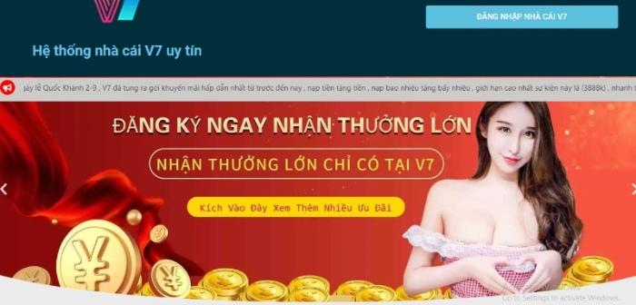 Casino trực tuyến V7 đã phát triển được hơn 10 năm